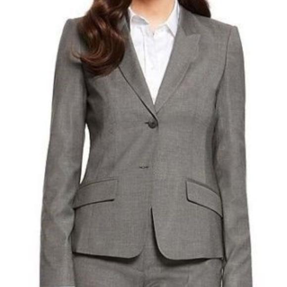 02255cedc Hugo Boss Jackets & Coats   Jadena Blazer Jacket Gray Wool 6 S ...
